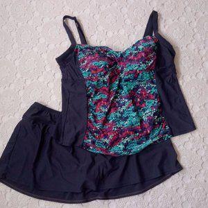 Sonria 22 W Tankini Swim Suit Bikini Skirt Modest